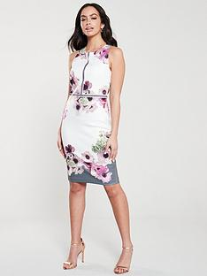 ted-baker-nanina-neopolitan-buckle-dress-light-grey