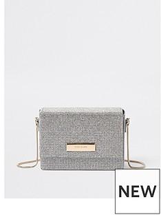 river-island-river-island-sparkle-boxy-cross-body-bag-silver