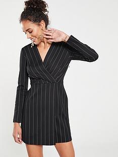 Mango Stripe Dress - Black 9f2ad083d