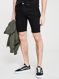 river-island-solid-black-skinny-shorts