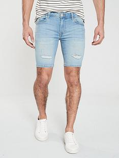 river-island-maui-light-wash-skinny-shorts