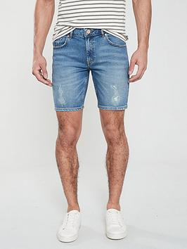 river-island-mid-blue-slim-shorts