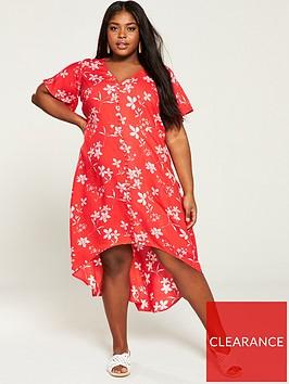 v-by-very-curve-button-through-dipped-hem-dress-print