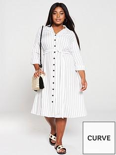 v-by-very-curve-stripe-shirt-dress