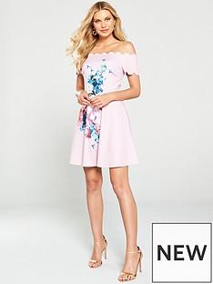 233f174930 Ted Baker Sirenta Bardot Skater Dress - Light Pink
