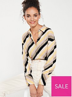mango-stripe-shirt-yellow