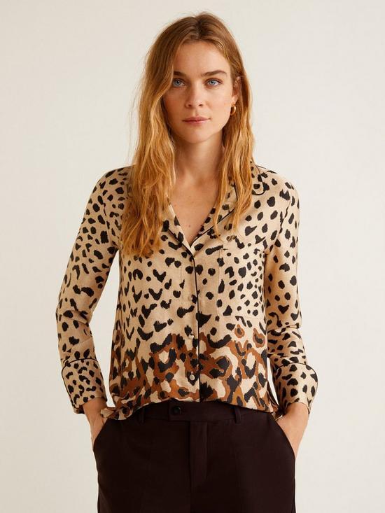 7bb9bcce887aac Mango Ombre Leopard Shirt - Animal Print