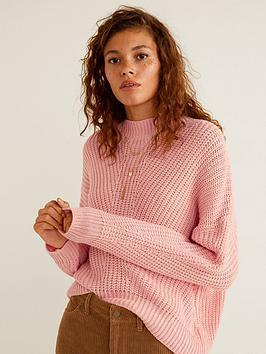 mango-knitted-jumper-pink