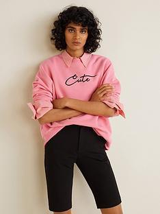 mango-cute-slogan-sweater-pink