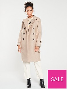 mango-double-breasted-wool-mix-coat-beige