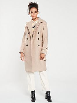 mango-double-breasted-wool-mix-coat-beige