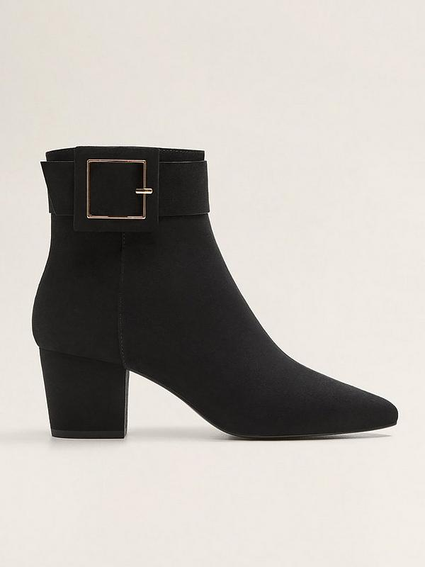 1bf7072732e Buckle Detail Ankle Boots - Black