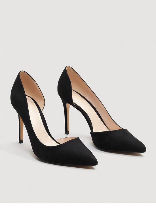 Mango Audrey Court Shoes - Black  c2bdde3f9