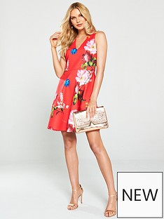 ted-baker-kinle-berry-sundae-skater-dress-red