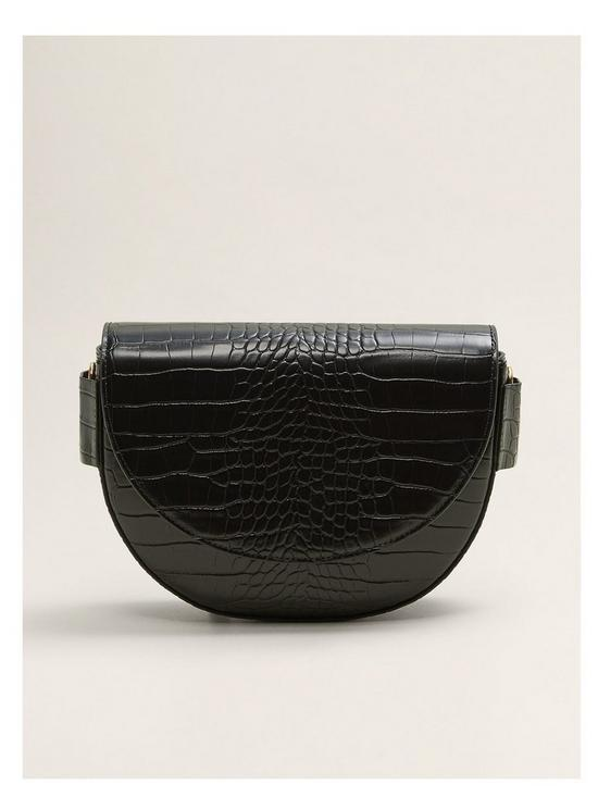 cd010b5deb Mango Faux Croc Cross Body Bag - Black