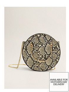 mango-round-cross-body-bag--nbspsnake-print