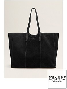 mango-suede-shopper-black