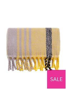 mango-check-blanket-scarf-yellow