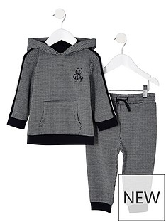 river-island-mini-mini-boys-black-dogtooth-check-jogger-outfit