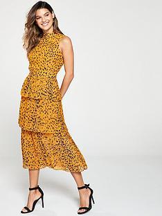 whistles-animal-print-tiered-dress