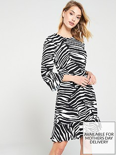 whistles-zebra-print-flippy-dress-blackwhitenbsp