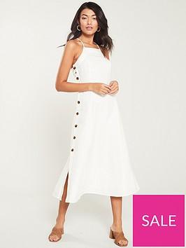 whistles-nina-button-linen-dress-white