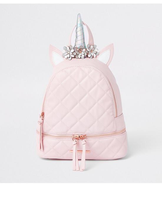 72f7ffd283c9d5 River Island Girls pink unicorn backpack | very.co.uk