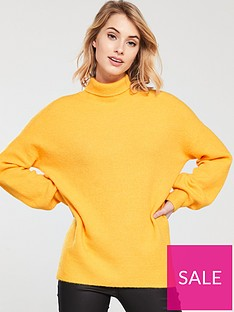 whistles-oversized-funnel-neck-knitted-jumper-yellow