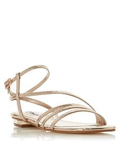 dune-london-wide-fit-nissey-flat-sandals-gold