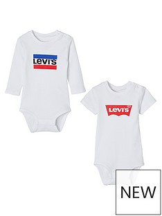levis-baby-pack-of-2-logo-bodysuits-white