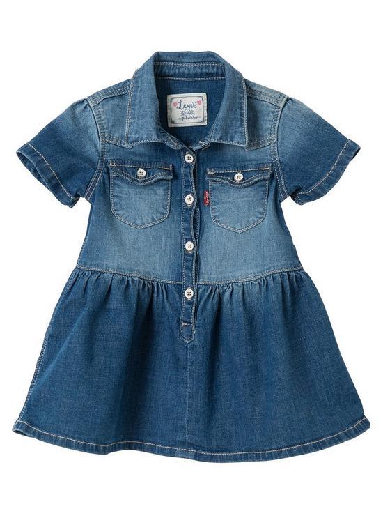 ae7e35cd3a4 Levi s Baby Girls Denim Shirt Dress - Indigo