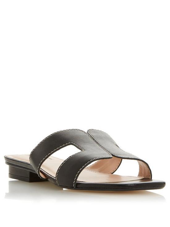 0bbd1b27202 Wide Fit Loupe Slider Sandals - Black