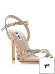 c67de6cd501 Dune London Dune London Wide Fit Magdal Diamante Dressy Sandal