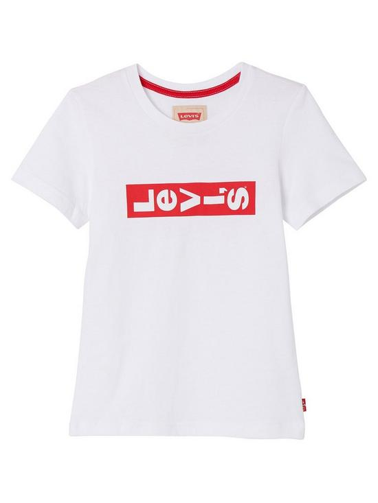 568f127e8b Levi s Boys Short Sleeve Lazy Logo T-shirt - White