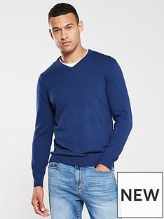 v-by-very-v-neck-jumper-navy-blue