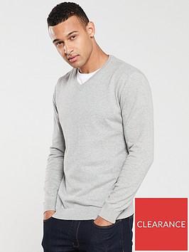very-man-v-neck-jumper-grey-marl
