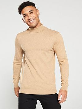 v-by-very-roll-neck-knitted-jumper-camel-marl