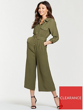 michelle-keegan-utility-casual-jumpsuit-khaki