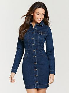 386e9f59e814f Michelle Keegan Fitted Denim Mini Dress - Indigo