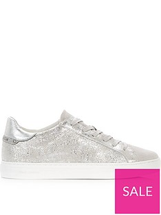 crime-london-beat-metallic-low-rise-trainers-silver
