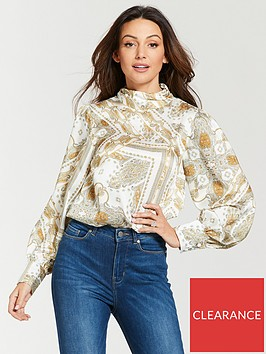 michelle-keegan-high-neck-printed-blouse-paisley-print