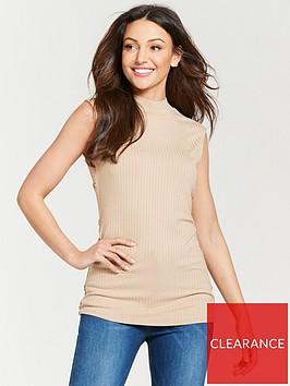 michelle-keegan-button-side-rib-jersey-top-camel