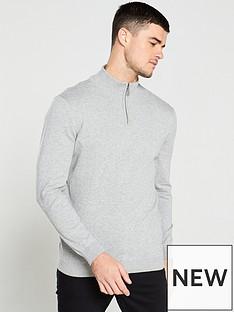 v-by-very-quarter-zip-neck-jumper-grey-marl