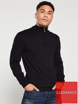 v-by-very-quarter-zip-neck-jumper-black