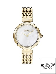 boss-boss-celebration-white-crystal-set-dial-gold-stainless-steel-bracelet-ladies-watch