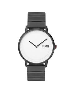 hugo-hugo-echo-white-round-dial-grey-ip-stainless-steel-bracelet-mens-watch