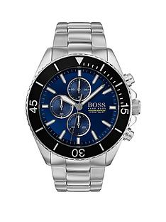 boss-boss-ocean-edition-blue-sunray-chronograph-dial-stainless-steel-bracelet-mens-watch