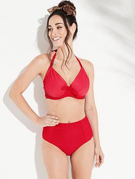 pour-moi-bali-adjustable-halter-underwired-bikini-top-red