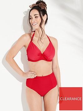 pour-moi-bali-adjustable-halter-underwired-bikini-top-red