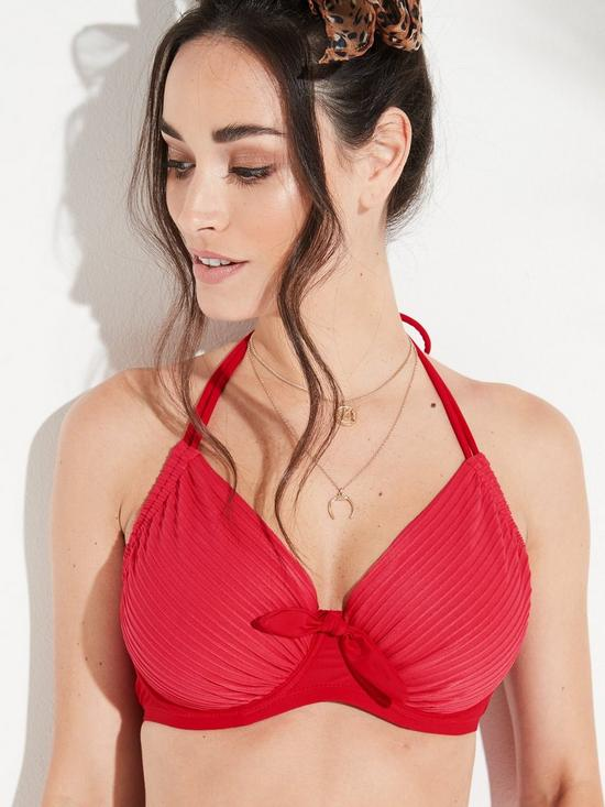3b9c33b3398bd ... Pour Moi Bali Adjustable Halter Underwired Bikini Top - Red. View larger